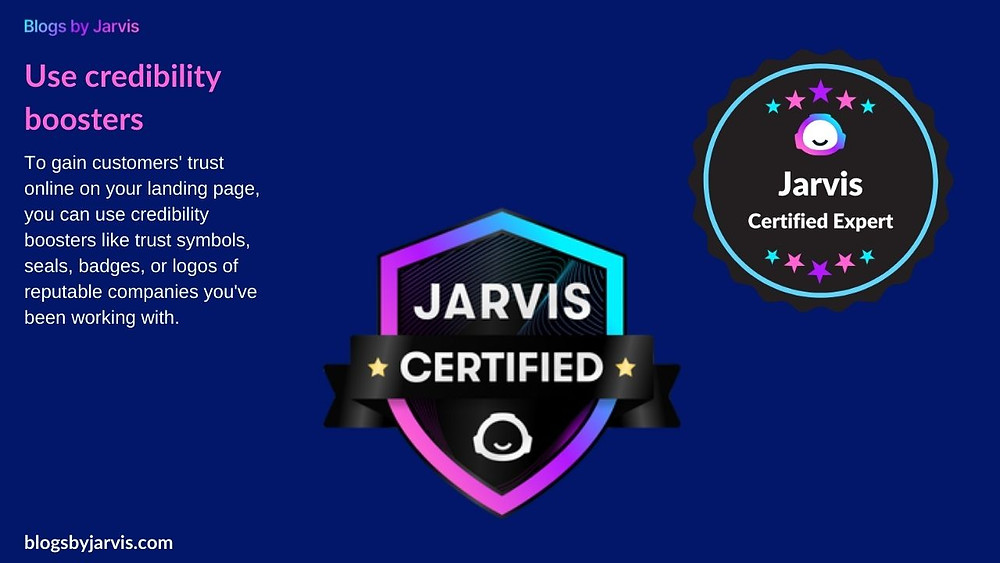 Blogs by Jarvis - Credibility Boosters