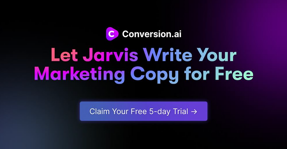 Try it for yourself with a 5 Day Free Trial of Conversion.ai