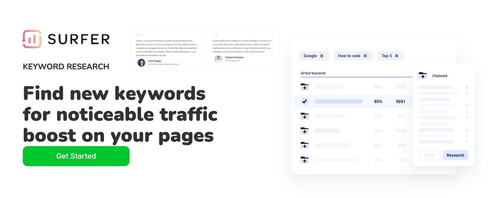 Use Surfer SEO for keyword research, to check search volume, and target keywords - Blogs by Jarvis