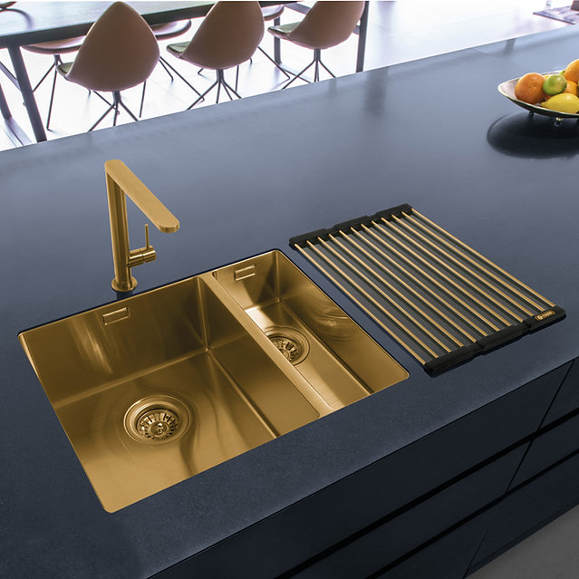 Gaddesby Kitchens - Matt Gold Sink and T