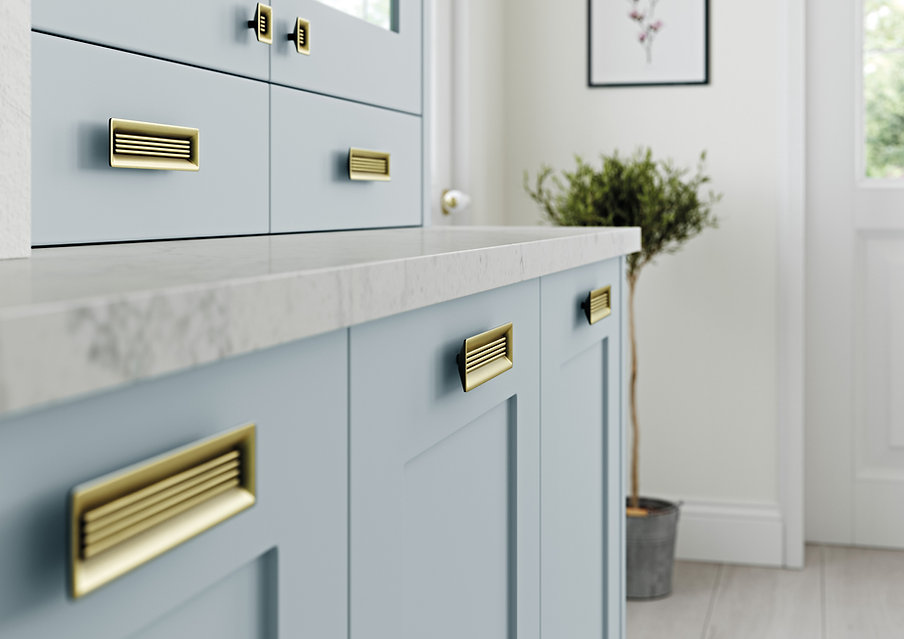 Gaddesby Kitchens - Maya Pantry Blue