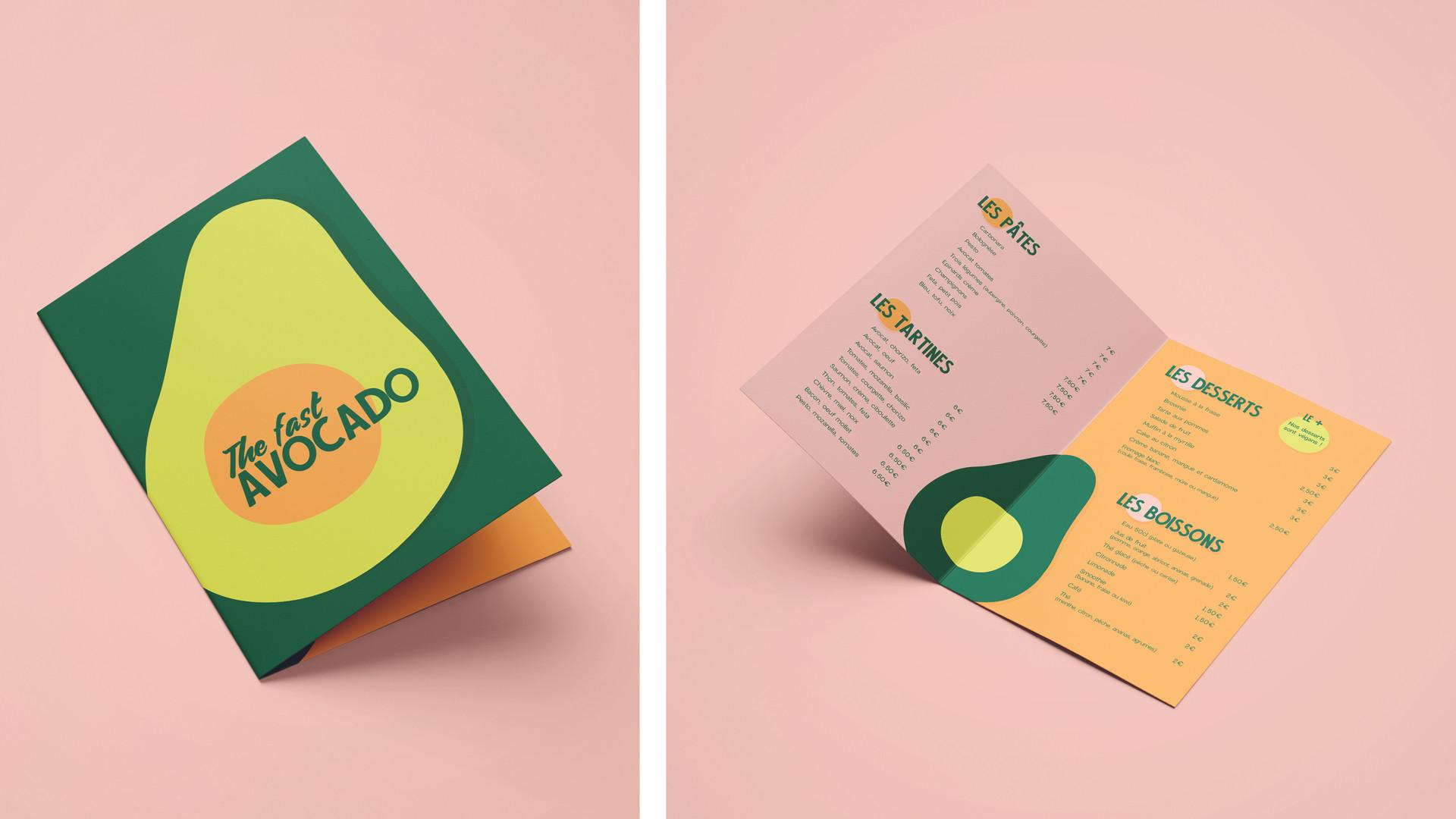 Menu The fast avocado