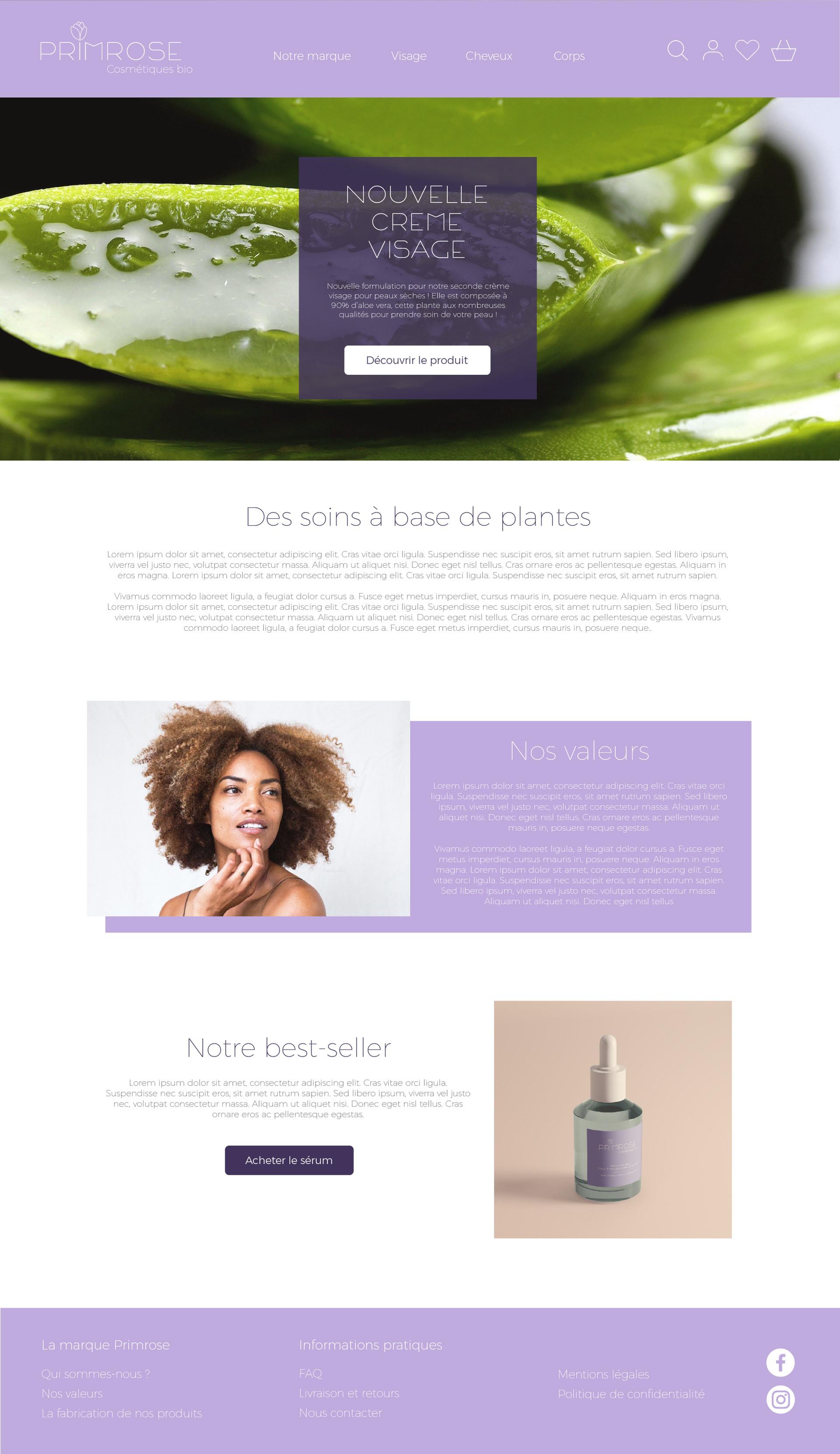 Webdesign homepage Primrose