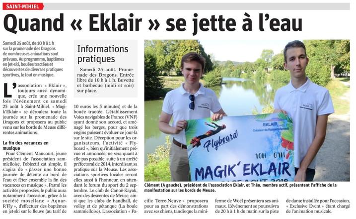 Article Promition de MAGIK' EKLAIR