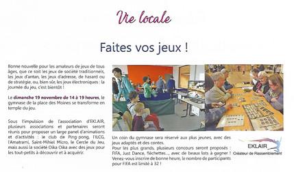 Article Journée du Jeu 2017 Bulletin Municipal de St-Mihiel