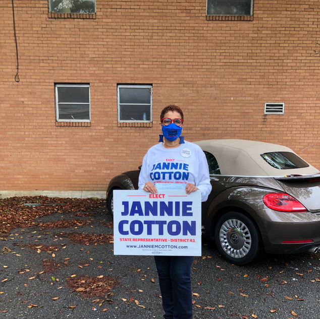 Candidate Jannie Cotton for District 41.