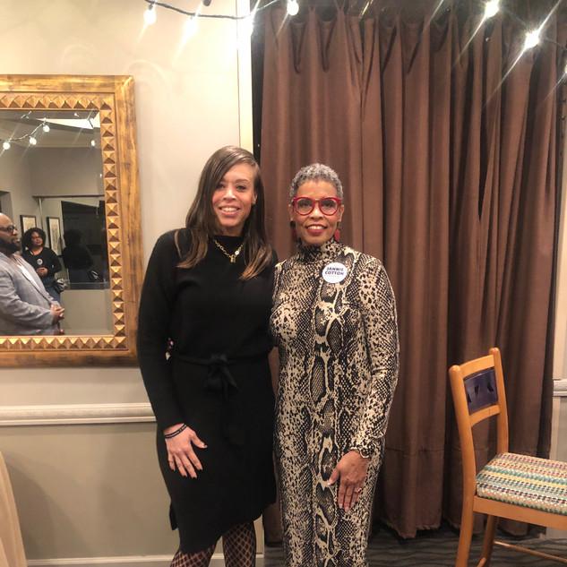 Daughter LaKisha Johnson and Candidate Jannie Cotton