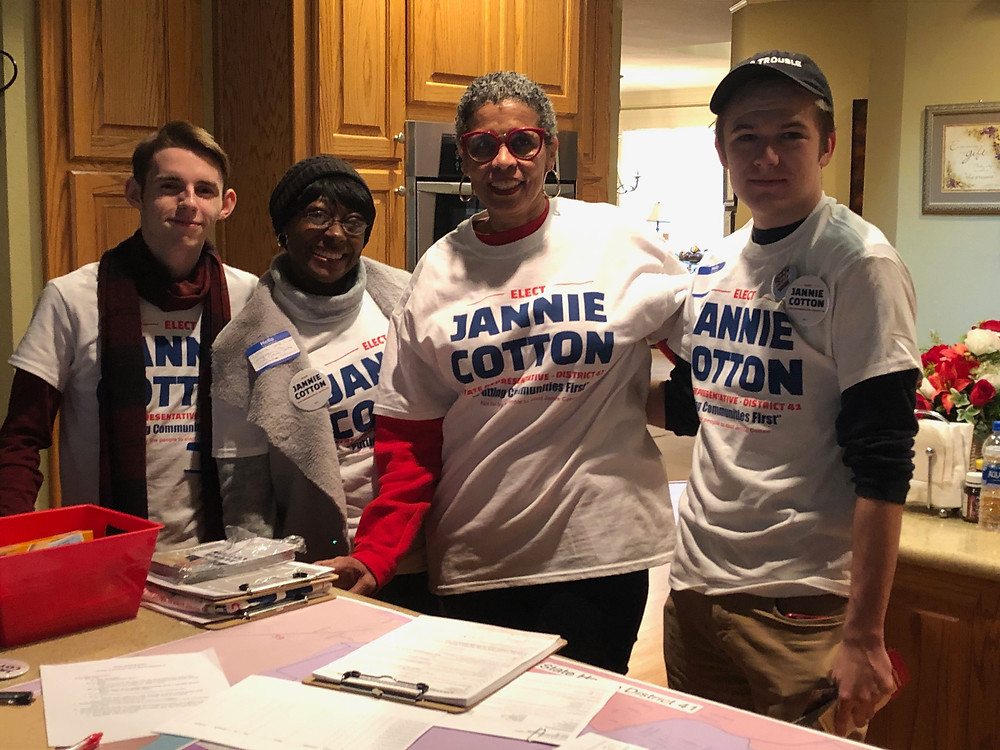 Candidate Jannie Cotton and Team Jannie