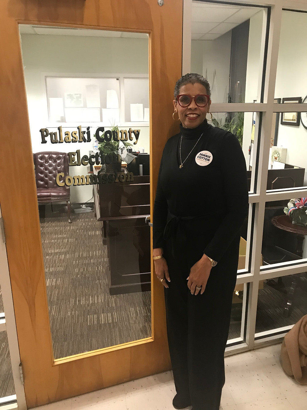 Jannie Cotton at the Pulaski County Election Commission