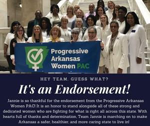 Progressive Arkansas Women PAC Endorses Candidate Jannie Cotton for Arkansas State Representative, District 41