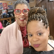 Candidate Jannie Cotton and attendee at the AKA Political Awareness Networking Event