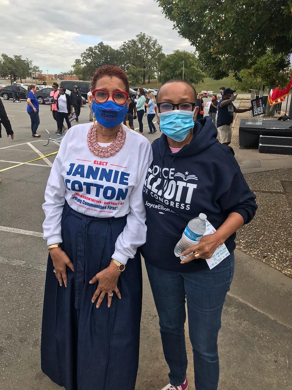 Candidate Jannie Cotton & Senator Joyce Elliot at the Joyce Elliot Campaign Rally