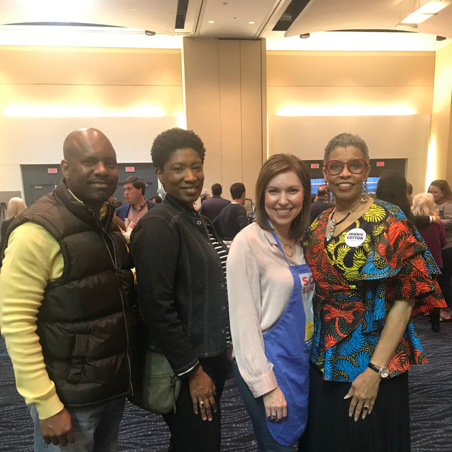 Rep. Fred Love, Rep. Denise Ennett, Nikki Edge, and Candidate Jannie Cotton