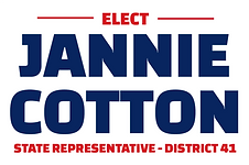 Elect Jannie Cotton State Representative - District 41 logo.png