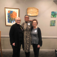 Cindy Conger, Candidate Jannie Cotton, and Dr. Andrea Everle