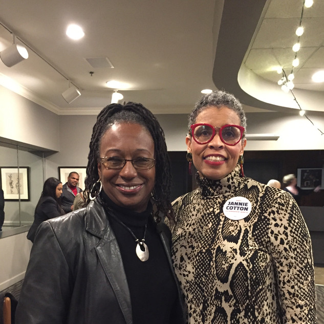 Dr. Creshelle Nash and Candidate Jannie Cotton