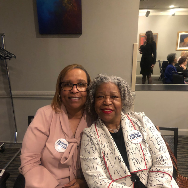 Sister Cheryl Mack and Cousin Dr. Mary Guinn