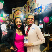 Candidate Jannie Cotton and attendee at the AKA Political Awareness Event