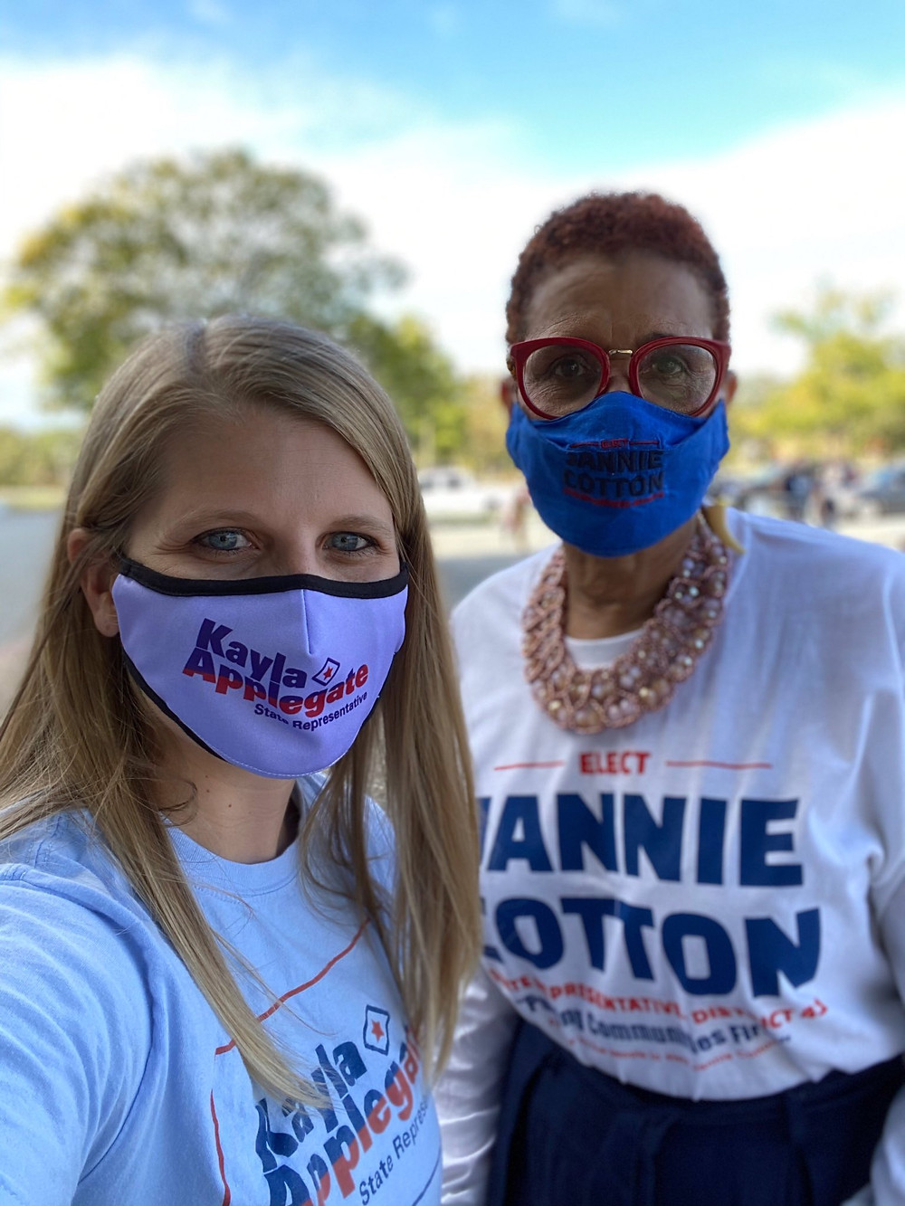 Candidate Jannie Cotton & Candidate Kayla Applegate at the Joyce Elliot Campaign Rally