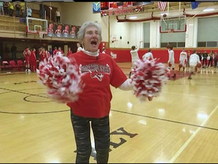 83 years old and still cheering