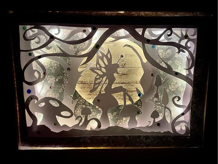 Shadow Light Box - Fée Papillon