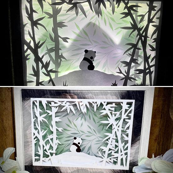 Shadow Light Box - Bébé Panda 2