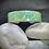 Thumbnail: Bracelet Jonc Acier et Papier - Vert clair et Or
