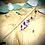 Thumbnail: Pic à cheveux Noyer - Fleurs Violettes