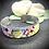 Thumbnail: Bracelet Jonc Acier et Papier - Fleurs de Cactus
