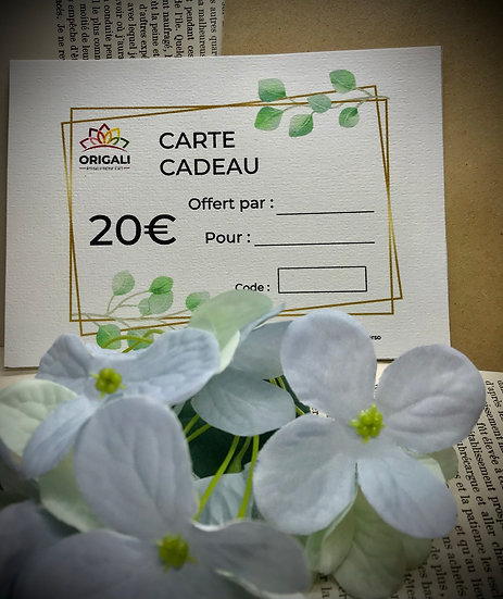 Carte Cadeau Origali 20€