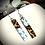 Thumbnail: Boucles d'oreilles Papier et Liège - Fleurs Turquoises