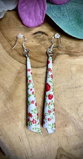 Boucles d'oreilles Papier Roulé - Bouquet de Roses