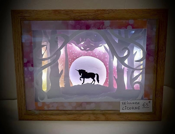 Shadow Light Box - Licorne Rose