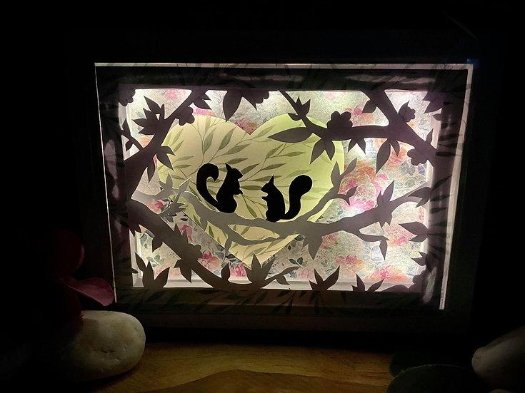 Shadow Light Box - Ecureuils Amoureux