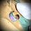 Thumbnail: Bague Acier et Papier - Flashy Rose et Vert
