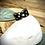 Thumbnail: Bague Acier et Papier - Noire Etoiles dorées