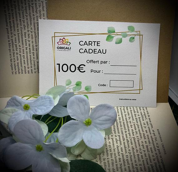 Carte Cadeau Origali 100€