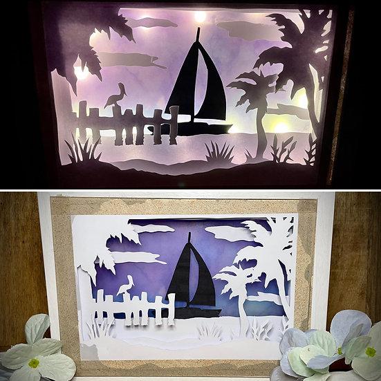 Shadow Light Box - Bord de Mer
