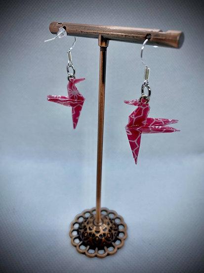 Boucles d'oreilles colibris rouges