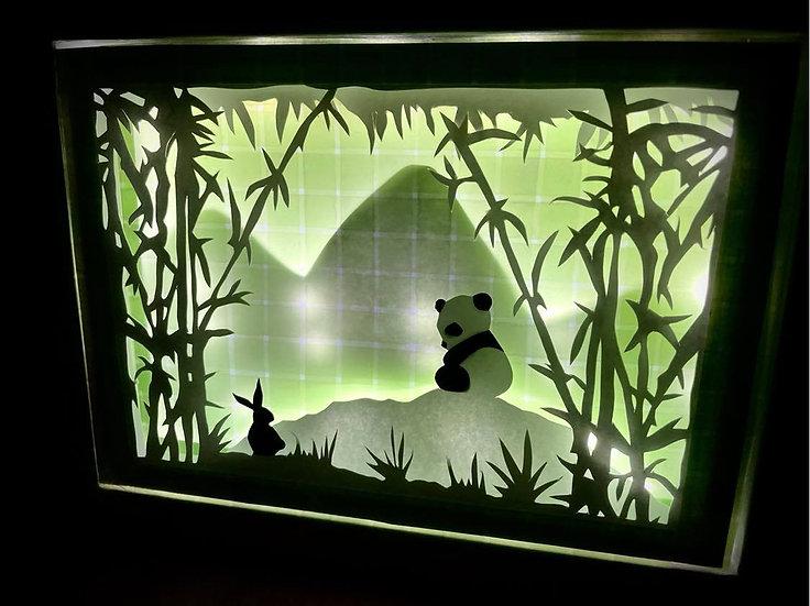 Shadow Light Box - Bébé Panda
