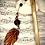 Thumbnail: Pic à cheveux Chêne - Rouge et Noir