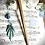 Thumbnail: Pic à cheveux Chêne - Bleu Turquoise
