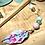 Thumbnail: Pic à cheveux Chêne - Fleurs colorées