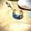 Thumbnail: Bague Acier et Papier - Bleu Roi