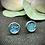 Thumbnail: Clous d'oreilles -  Turquoise Holographique
