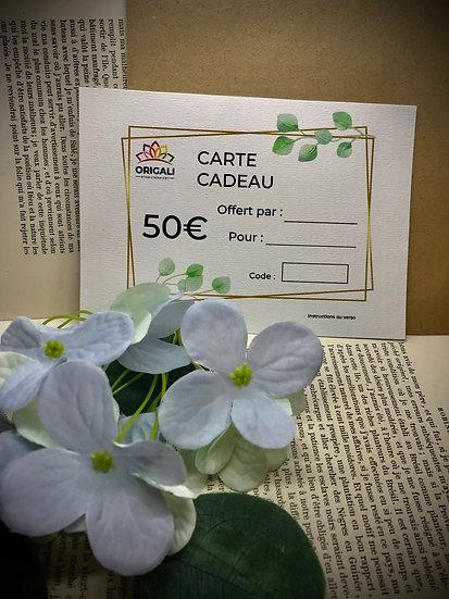 Carte Cadeau Origali 50€