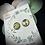 Thumbnail: Clous d'oreille - Vert et Or
