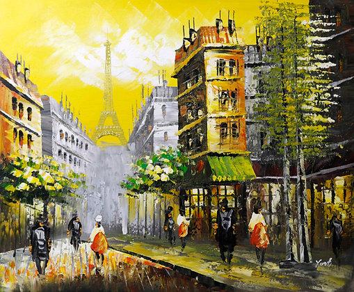 Paris - modern street scene