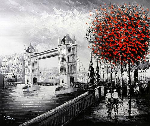 London - Tower Bridge Red Tree
