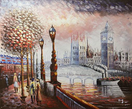 London - Big Ben pastel